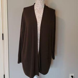 VINCE Wool/Cashmere Dark Olive Cardigan